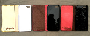 鹿革iphone case SE/5 こげ茶/赤