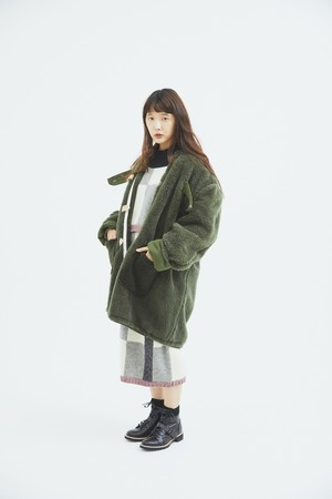 CaNARi  military reversible boa coat (REMAKE)
