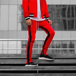 URKOOL Double Striped Track Pants / RED