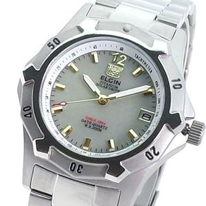 エルジン ELGIN 腕時計 メンズ FK1423TI-BR クォーツ ライトグレー シルバー