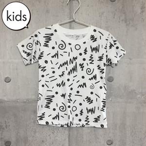 【送料無料】 80s Black Kids T-shirts M 80s柄 黒 キッズ Tシャツ M
