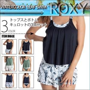 RSW211008 ロキシー 水着 新作 レディース 女性 通販 人気 ブランド 可愛い かわいい ブラック カーキグリーン ネイビー ボタニカル キュロット S M L ROXY