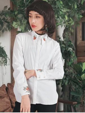 MZ08095.0013 襟&カフスステッチシャツ