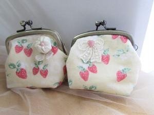 ガマ口財布 いちご 2種類