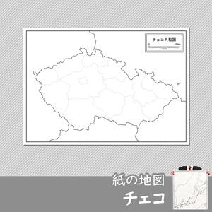 チェコの紙の白地図