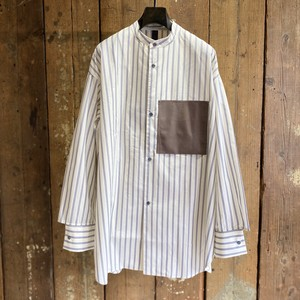 SHINYAKOZUKA シンヤコヅカ / HIS SHIRT / ORDINARY STRIPE / THICK / size M