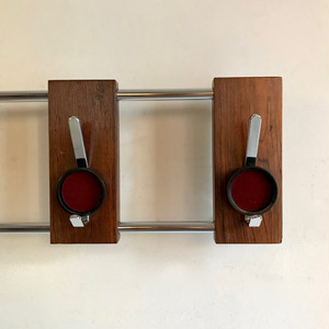 Retro Modern Rosewood × Chrome Wall Hook オランダ