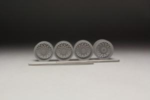 クロスワイヤー 8角 スピンナー タイプ 3Dプリント ホイール 1/64 未塗装