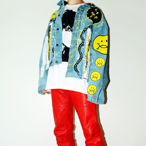『TARZANKICK!!!』 1off customized denim jacket