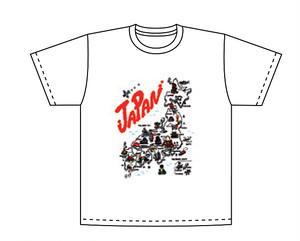 和柄Tシャツ JAPAN