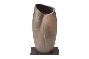 信楽焼陽炎 花瓶(木箱入) G5-5901