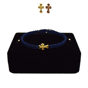 【無料ギフト包装/送料無料/限定】K18 Gold Baby Crux Bracelet / Anklet  Navy×Black【品番 21S2001】