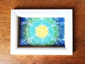 【ポストカード】数秘8フラワーオブライフエネルギーアート