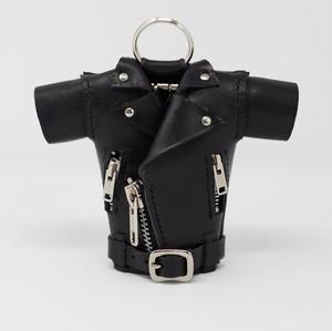 レザー キーケース モデル:ライダースジャケット 色:黒