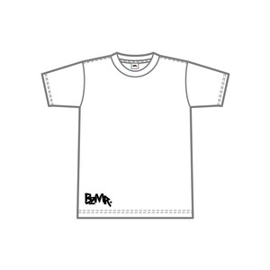 BZMR [Bottom print mono tee] White.