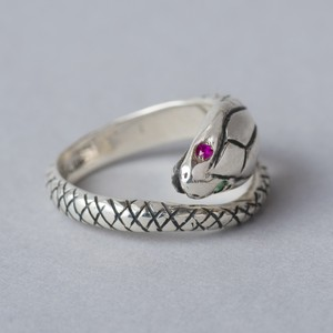 "silver925 pinky ring ""SNAKEHEAD"""