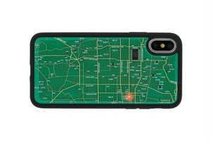 FLASH 京都回路地図 iPhoneXケース 緑【東京回路線図ピンズをプレゼント】