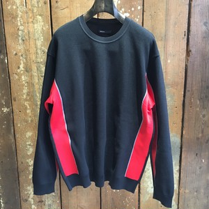 08sircus / Polyester long sleeve knit / black