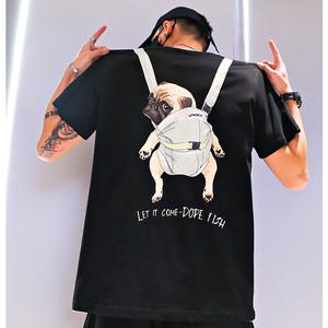 【トップス】動物図柄プリントストリート系ファッションTシャツ31040669