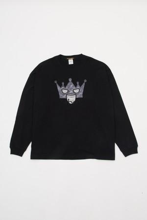 【100枚限定】バーボンコラボ ロングTシャツ ブラック