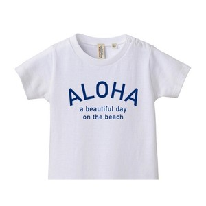 ★Kids★ ALOHA Tee - White/Blue
