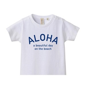 【4月初旬発送】★Kids★ ALOHA Tee - White/Blue