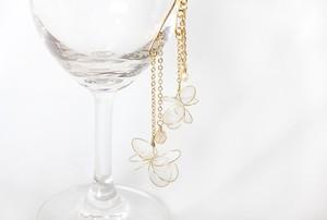ディップイヤーフック *丸、金真珠。