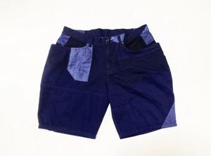 20SS 硫化染めクレイジーパターンストライプショートパンツ / Sulfide dyeing crazy pattern short pants
