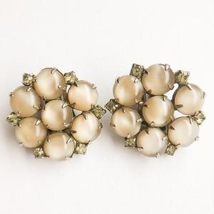 beige design earring[e-1024]