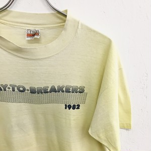 Hanes : 「BAY・TO・BREAKERS」 double sided printing tee (used)