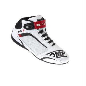 IC/812120 KS-2 SHOES WHITE/BLACK/RED