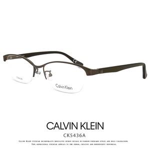カルバンクライン メガネ ck5436a-201 calvin klein 眼鏡 メンズ Calvin Klein titanium カルバン・クライン ハーフリム ナイロール チタンフレーム