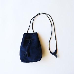 SUEDE SHOULDER BAG - NAVY