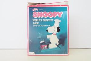 品番SB-017 1965's ヴィンテージスヌーピー コック衣装 『Aviva COOK SNOOPY』 ※箱付・ゼンマイ式
