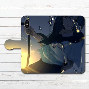 #042-025 手帳型iPhoneケース ・ 手帳型スマホケース 《夏が来るね》 作:澄まし オリジナルデザイン  ノスタルジー系 女の子系 iPhoneX対応 全機種対応 Xperia ARROWS AQUOS Galaxy HUAWEI Zenfone