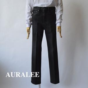 AURALEE/オーラリー ・WASHED HARD TWIST DENIM 5P PANTS WASHED BLACK