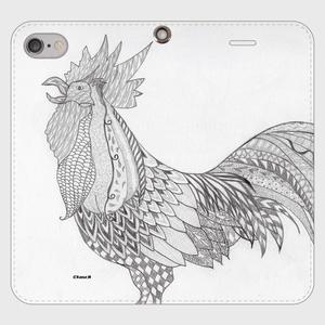 手帳型(帯なし)(iPhone7/8):kazue.M_014「鳥」