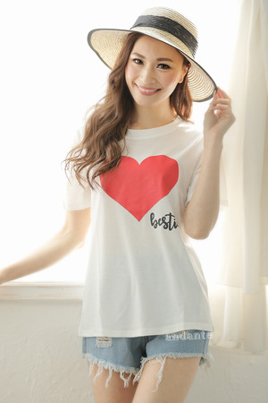 【ママ】親子コーデ:ハート♡Tシャツ