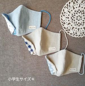 【送料無料】 立体マスク [小学生サイズ] ☆3枚セット[男女兼用]