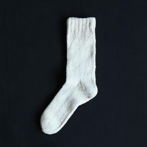 Montemuro 靴下 - ホワイトD / Ssize