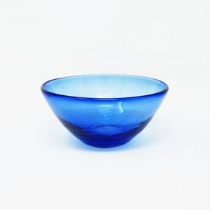 ガラス工房 清天 気泡小鉢 ブルー 琉球ガラス