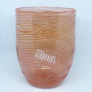 Item390G ヴェネチアングラス フィリグラーナグラス タンブラー オレンジ
