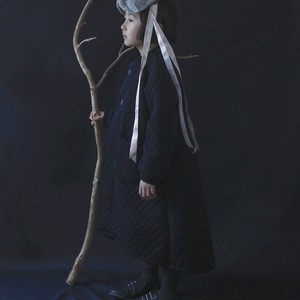Quilting longcoat XL(130-140)サイズ Black