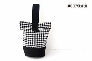 リュ ドゥ ヴェルヌイユ|RUE DE VERNEUIL|バケットバッグ|ハウンドトゥース柄