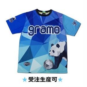 プラクティスシャツ「polygon」(ブルー・P-041)☆受注生産可☆