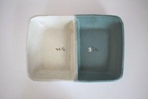 原田晴子|仕切りプレート 緑×白