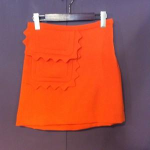 """VICTORIA BECKHAM"" orange design miniskirt[B1793]"