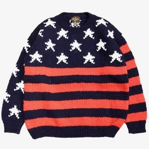 SUNNY SPORTS/サニースポーツ | FLAG CREW SWEATER - Navy