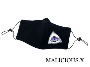 triangle eye Face mask (cotton × Gaze)