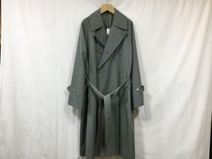 "ULTERIOR""PURE COVERT CLOTH OVER COAT CASTOR GREY"""